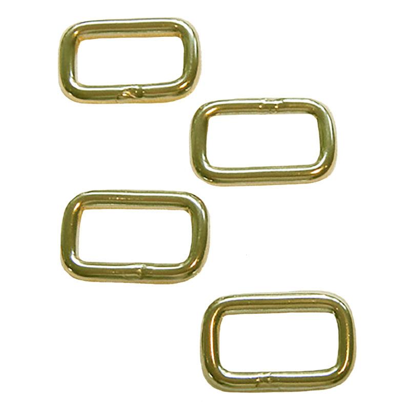 Rectangular Brass Links 1in 4ct