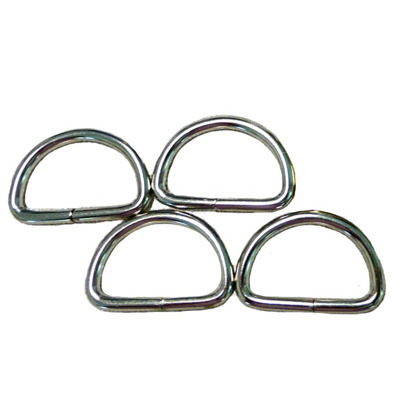 D Ring 3/4 4ct Nickel