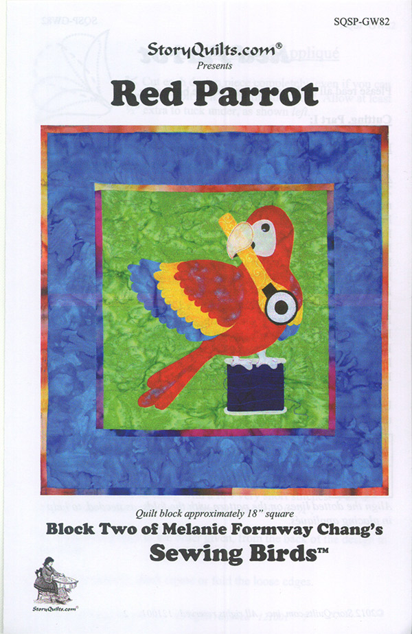 Sewing Birds/Red Parrot Pattern