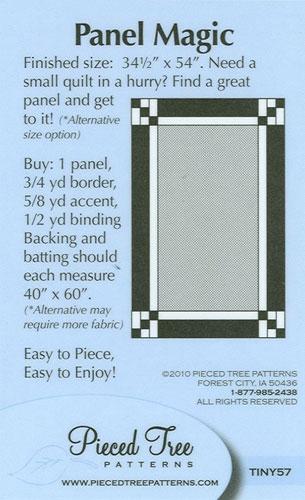 PTP TINY57 Panel Magic Quilt Pattern Card