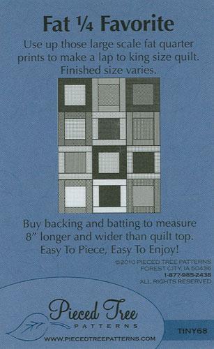 Fat Quarter Favorite Quilt Pattern