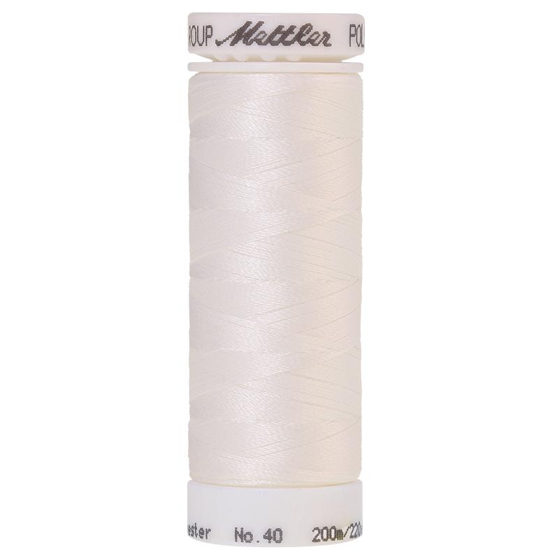 Polysheen Embroidery Thread, white, 200m