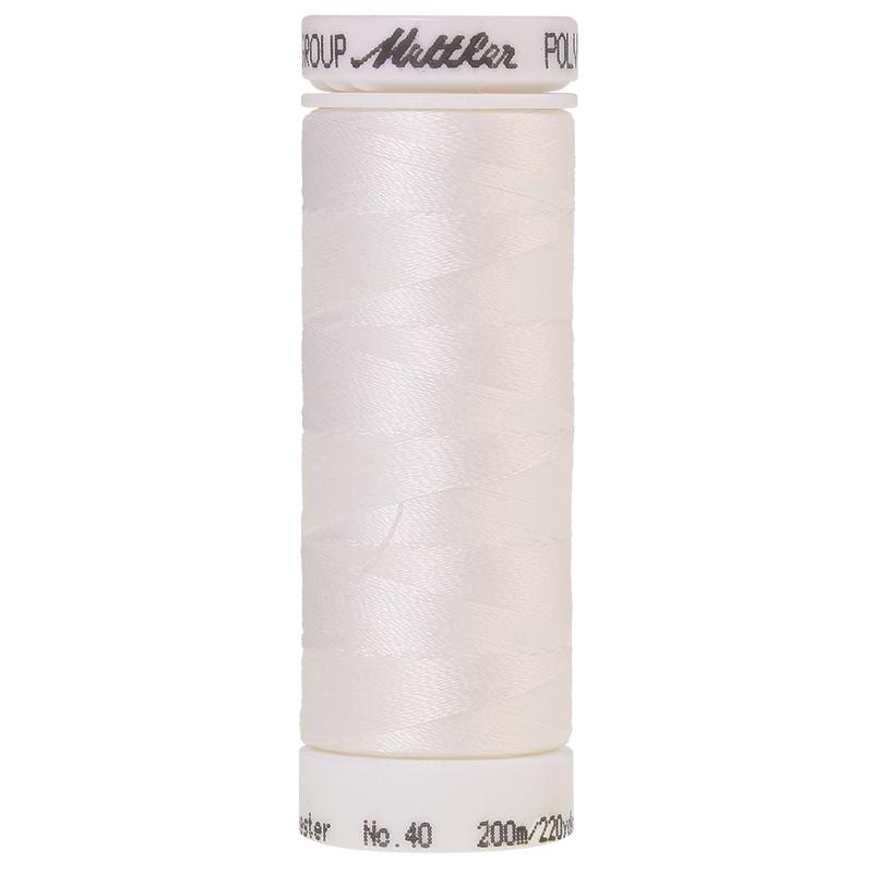 Polysheen Embroidery Thread, silky white, 200m