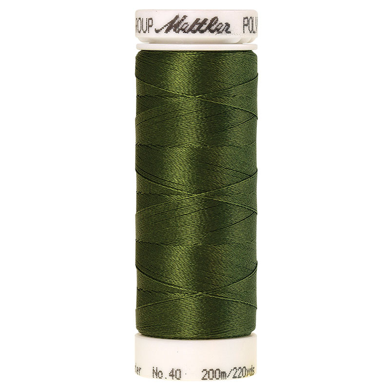 Polysheen Embroidery Thread, Moss Green, 200m