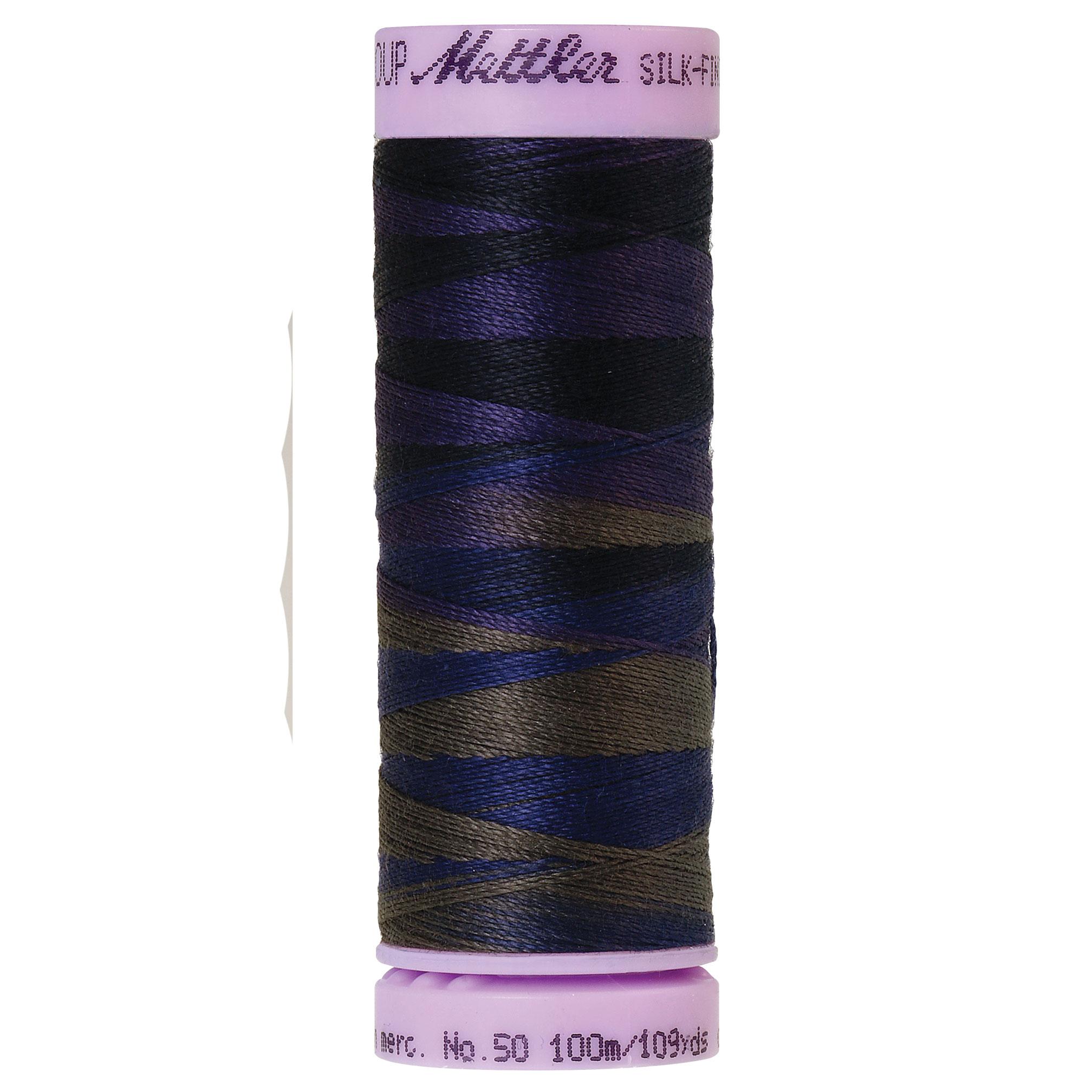 Silk Finish cotton 50wt 109 yards Deep Night
