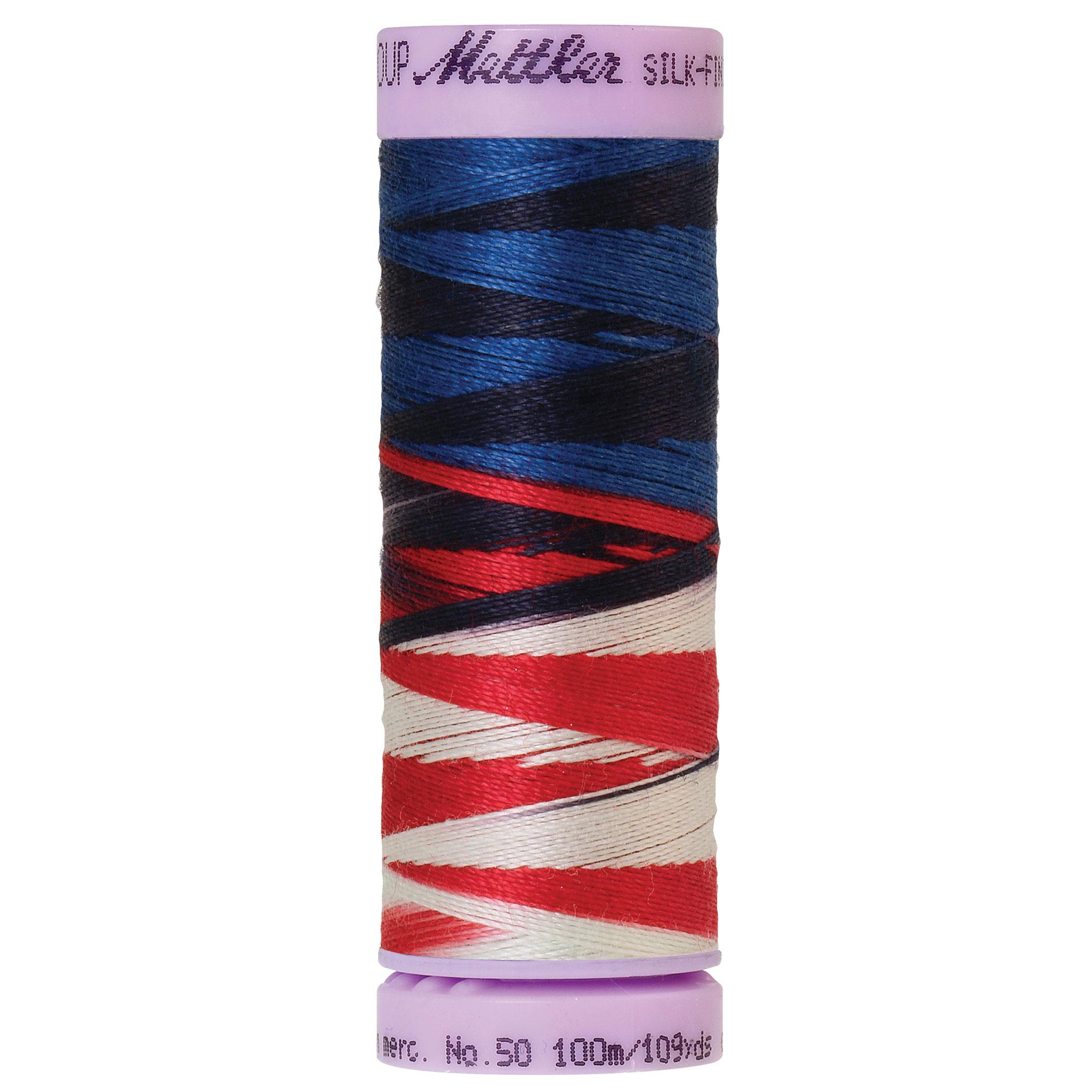 Silk Finish cotton 50wt 109 yards Patriotic