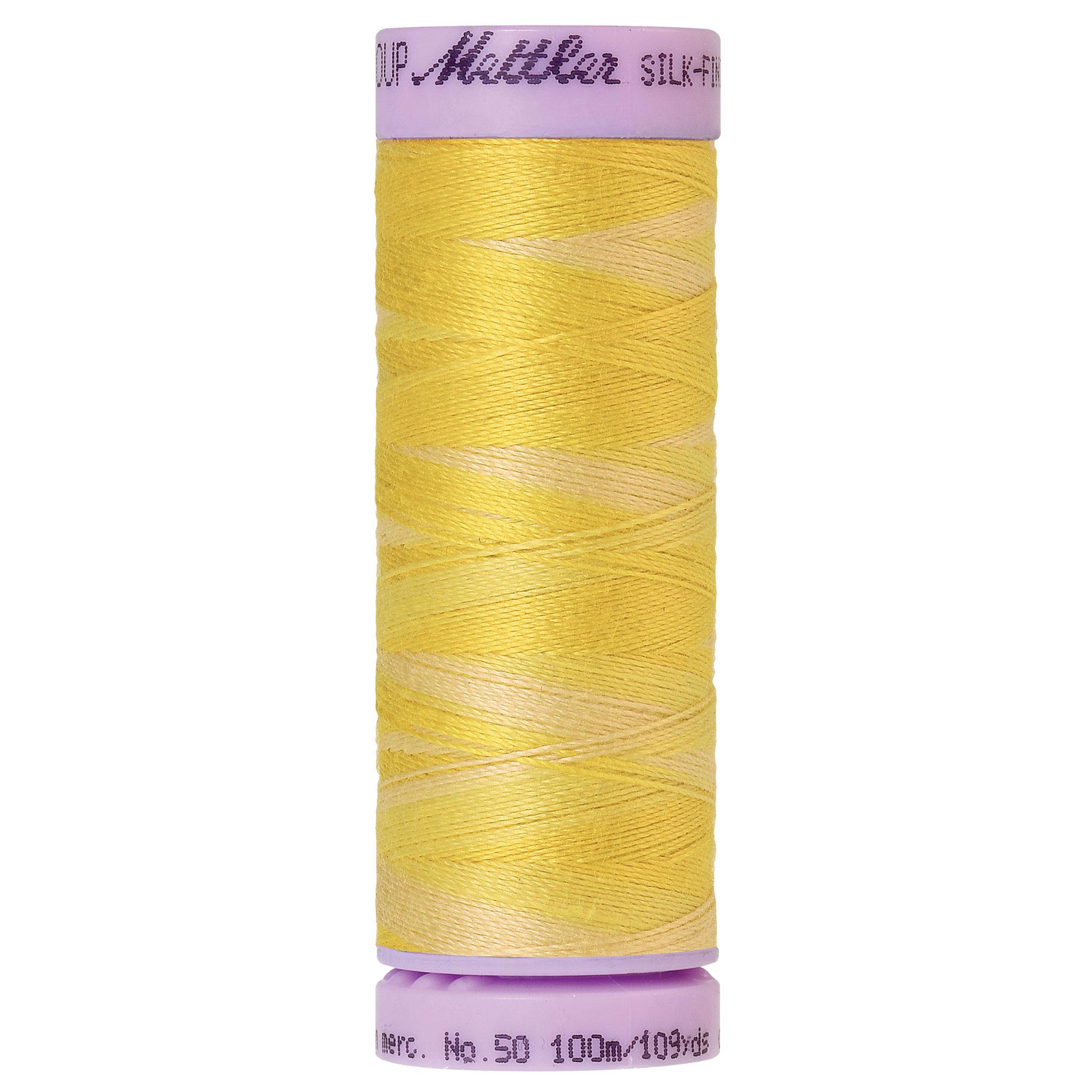 Silk Finish cotton 50 wt 500 yd Canary Yellow