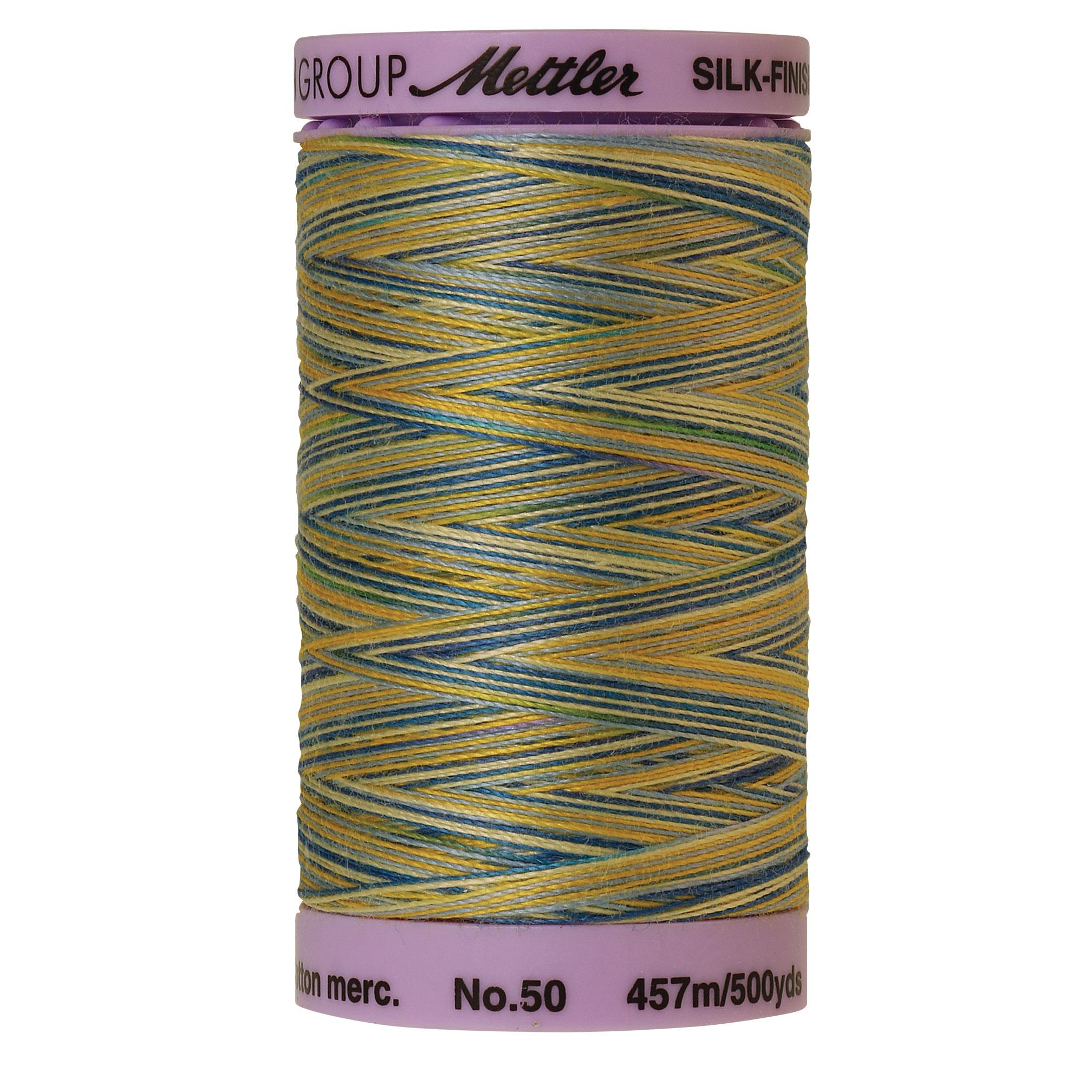 Silk Finish cotton 50wt 500 yards China Blue
