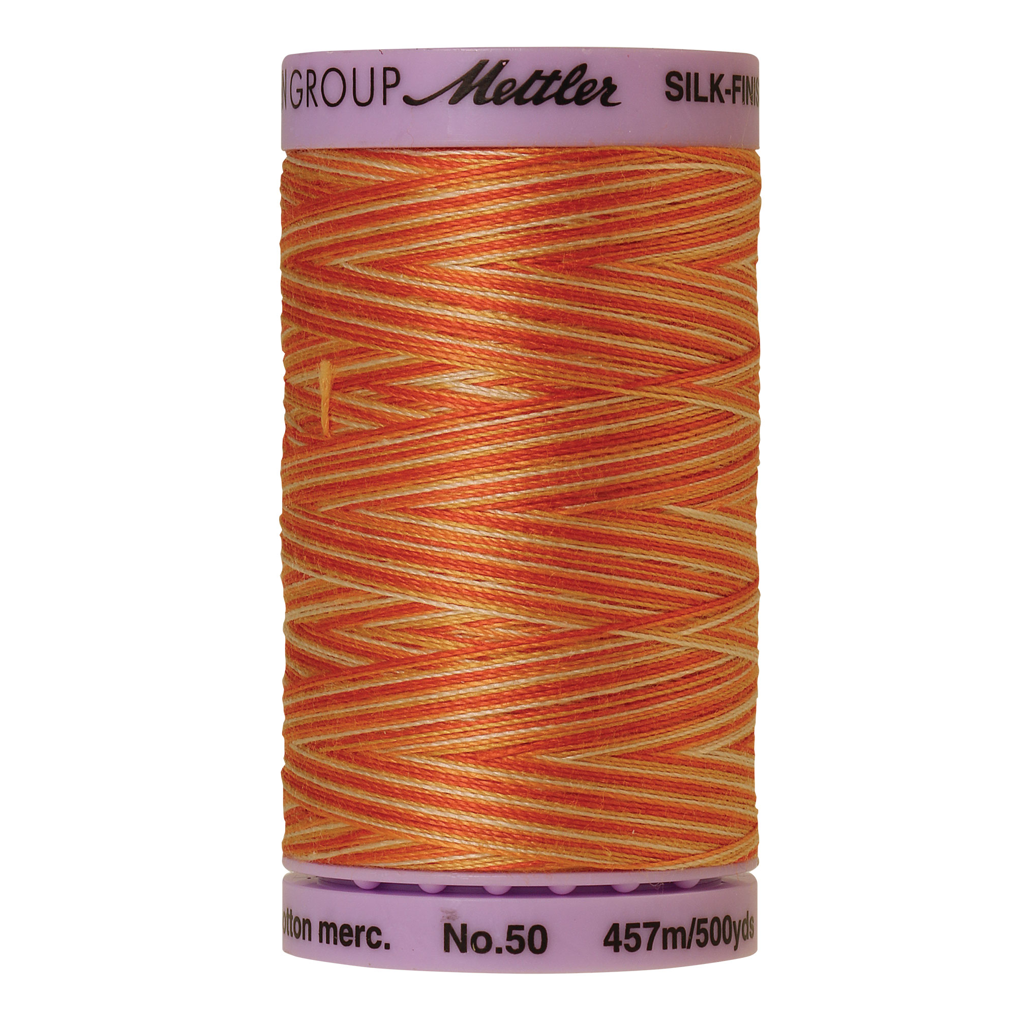 Silk Finish cotton 50wt 500 yards Rust Ombre