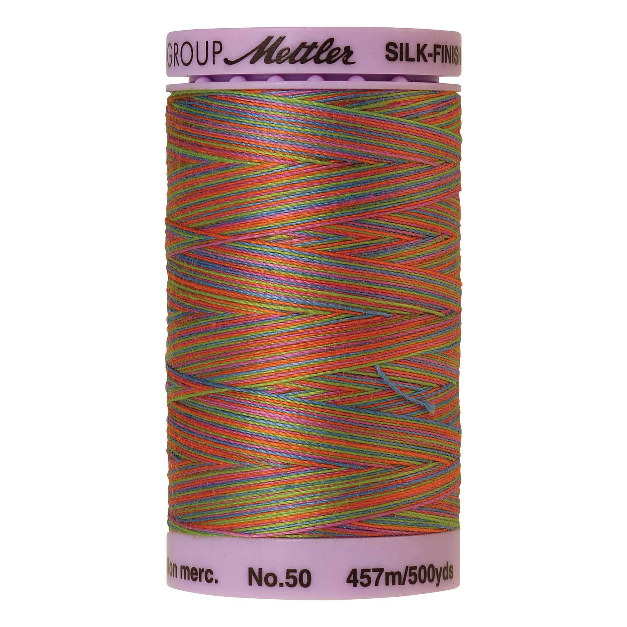 Silk Finish cotton 50wt 500 yards Preppy Bright