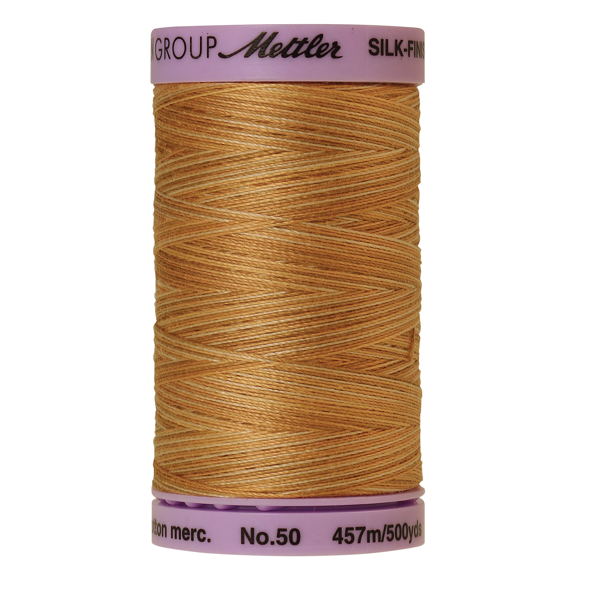 Silk Finish cotton 50wt 500 yards Bleached Straw