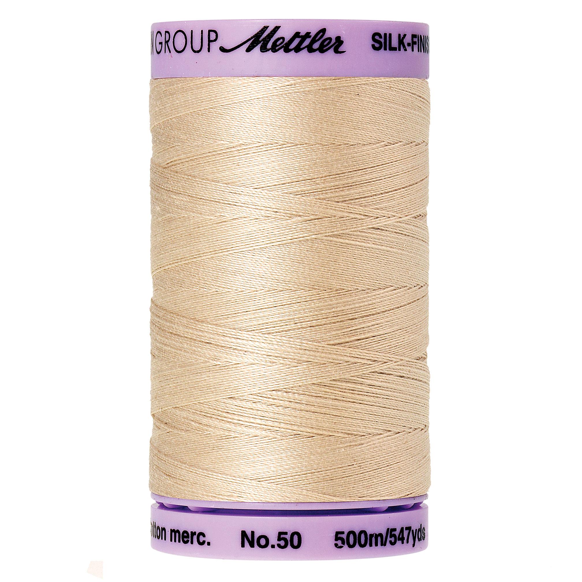 Mettler Silk-Finish 50wt Cotton Thread 547yd.  9104-1000