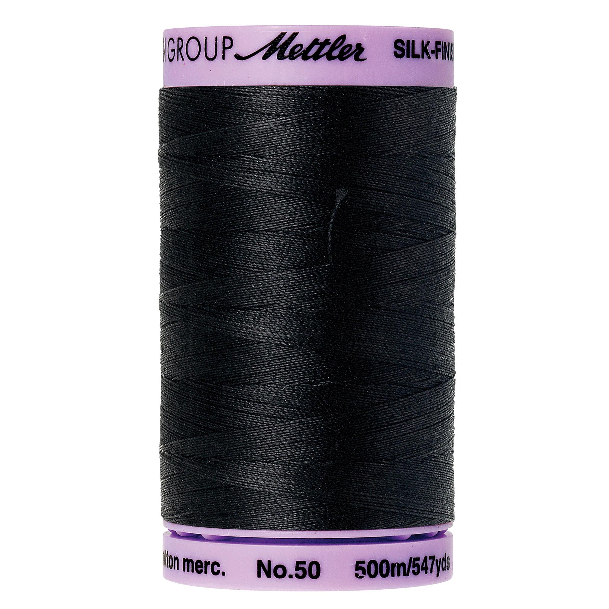 4000 Black 50wt Silk Finish Cotton Thread Mettler 547yds