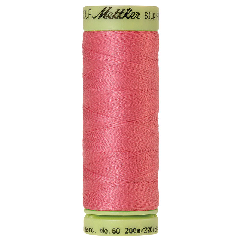 Silk-Finish 60wt Solid Cotton Thread 220yd/200M Dusty Mauve