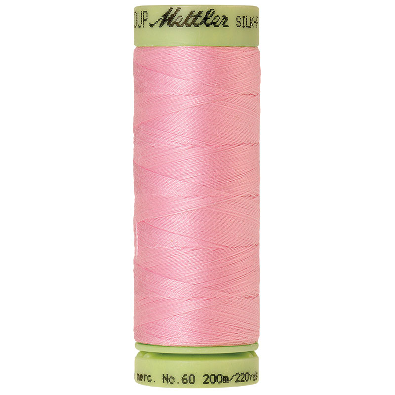 Silk-Finish 60wt Solid Cotton Thread 220yd/200M Petal Pink