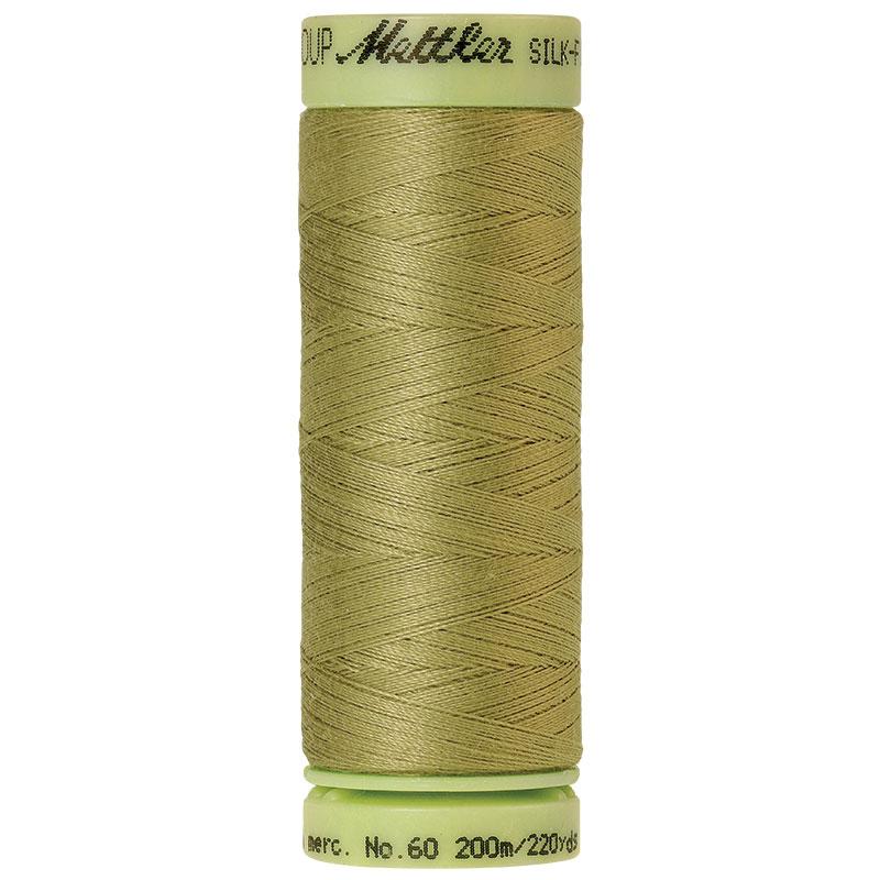Silk-Finish 60wt Solid Cotton Thread 220yd/200M Seaweed
