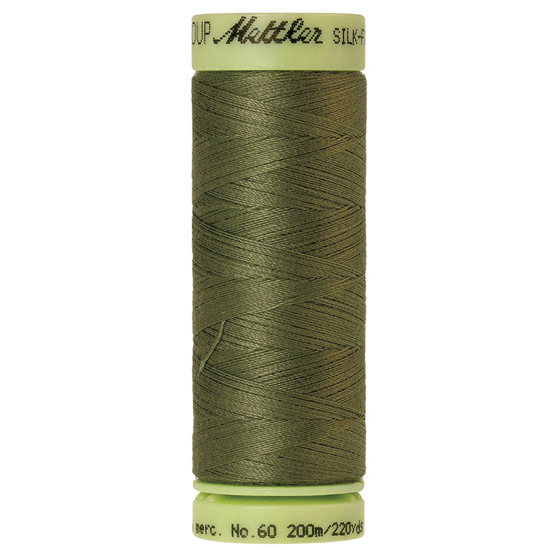 Silk-Finish 60wt Solid Cotton Thread 220yd/200M Seagrass