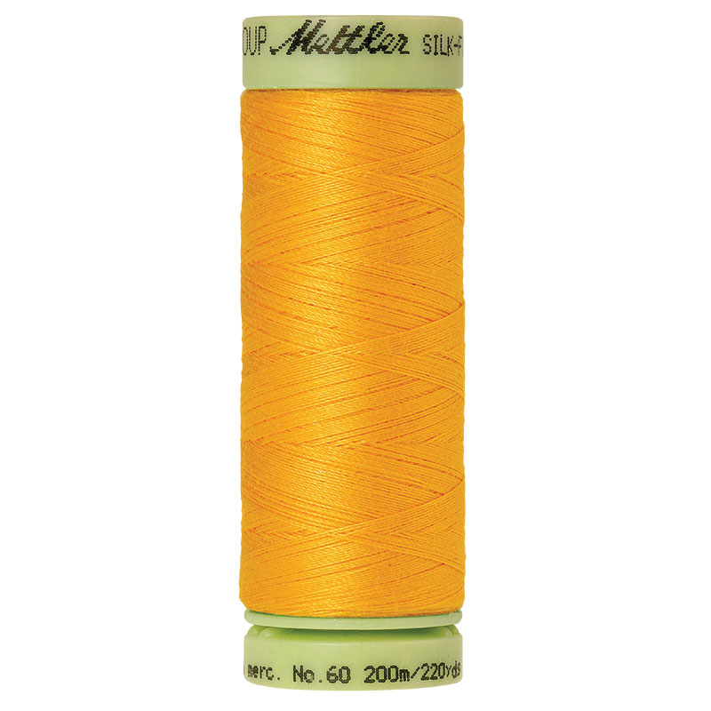 Silk Finish Cotton 60wt, 220yds Citrus