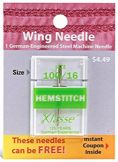 Klasse Hemstitch Needle 100/16