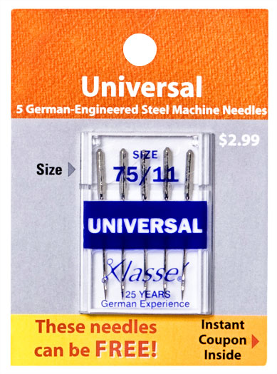 Klasse Needles Universal 75/11