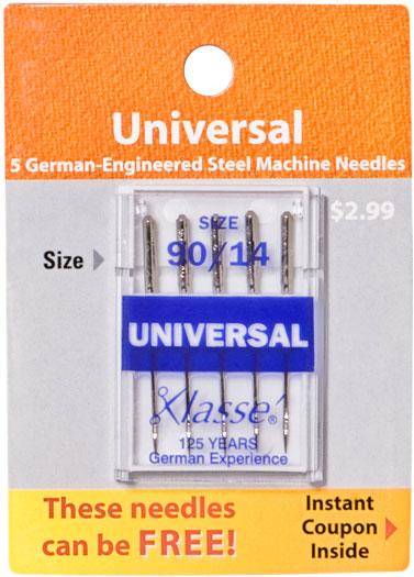 Klasse Universal Needles (5 pk) Size 90/14