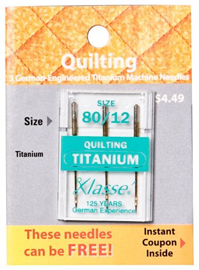 Titanium Quilting Needle 80/12