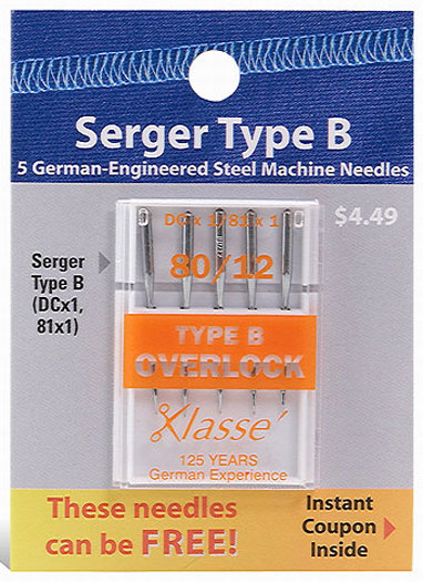 Klasse - Serger Type B 81x1 80/12