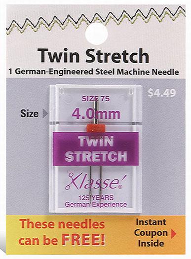 Klasse Twin Stretch Needle Size 75 4.0mm
