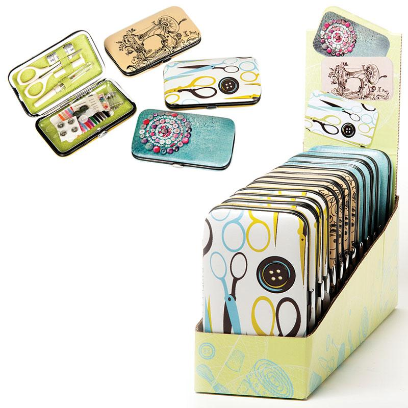 Faux Leather Deluxe Sewing Kit Assortment 12 Kits Included