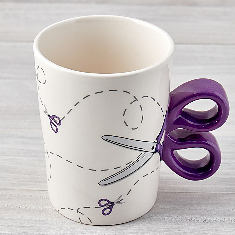 Sewing Scissors Mug 13.5oz Purp