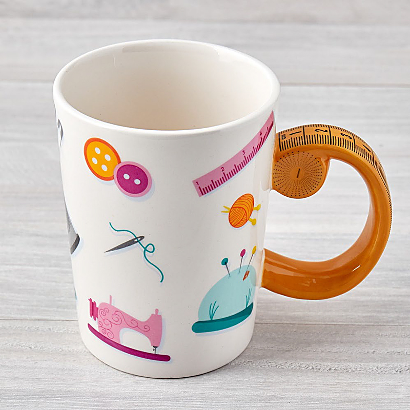 Tape Measure Sewing Mug 13.5oz