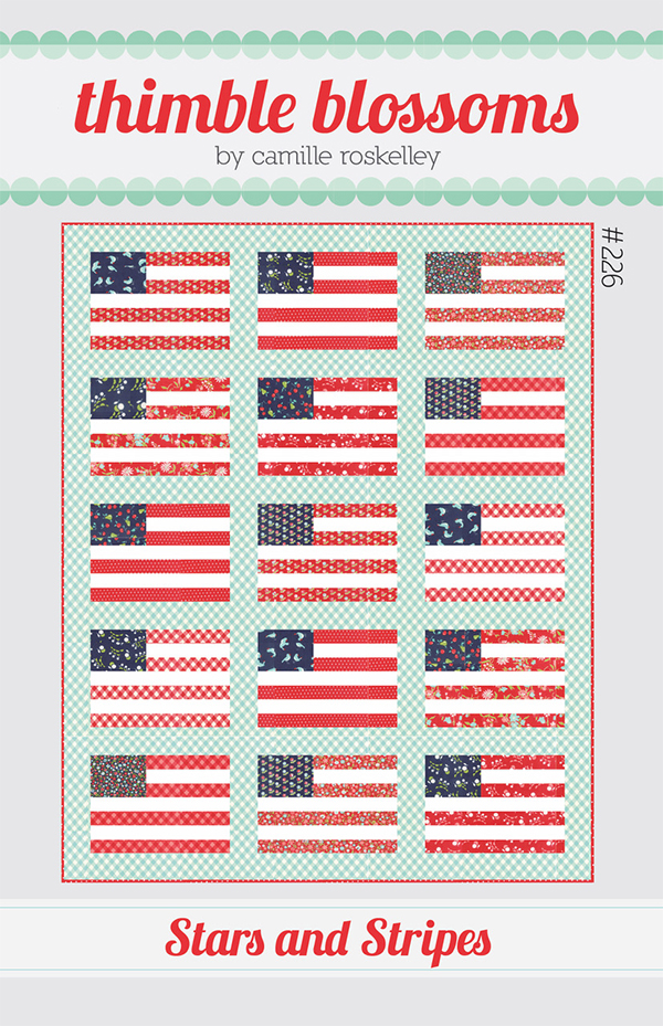 Stars And Stripes - Thimble Blossoms - 56 X 71