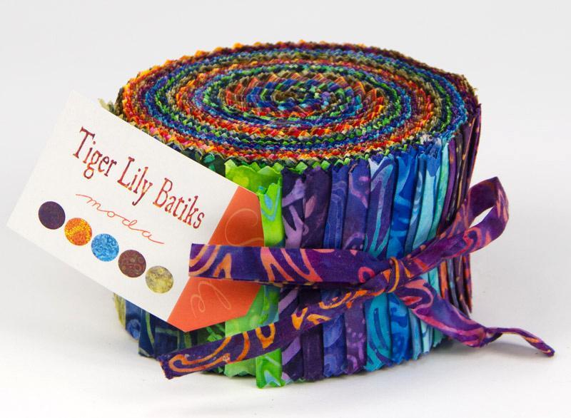 Tiger Lily Batiks Jelly Roll