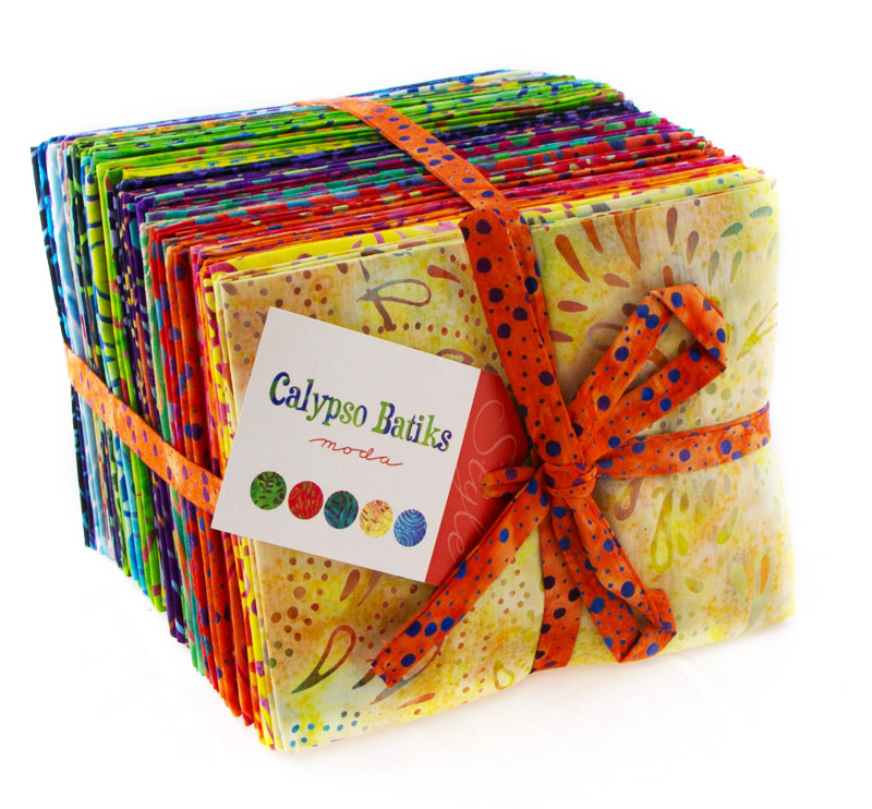 Calypso Batiks Fat Quarter Bundle 40 pieces (18x22) - Moda