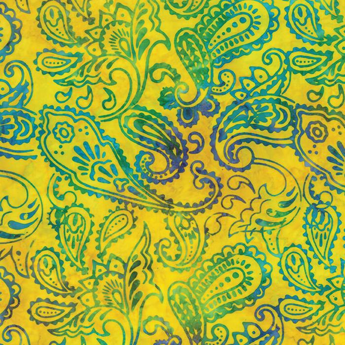 Calypso Sunshine Paisley Batik