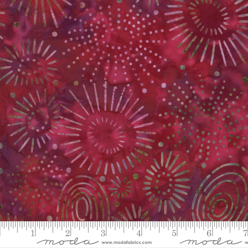 PRE-ORDER Sunny Day Batiks 4358-21 Raspberry