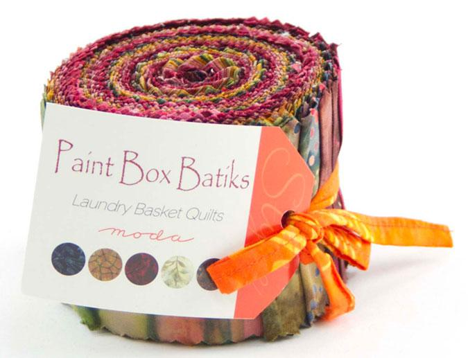 Paint Box Batiks Jelly Roll