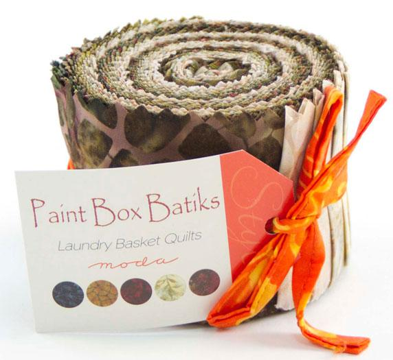 Paint Box Batiks Junior Jelly Roll (20 Pieces) - Laundry Basket Quilts - Moda