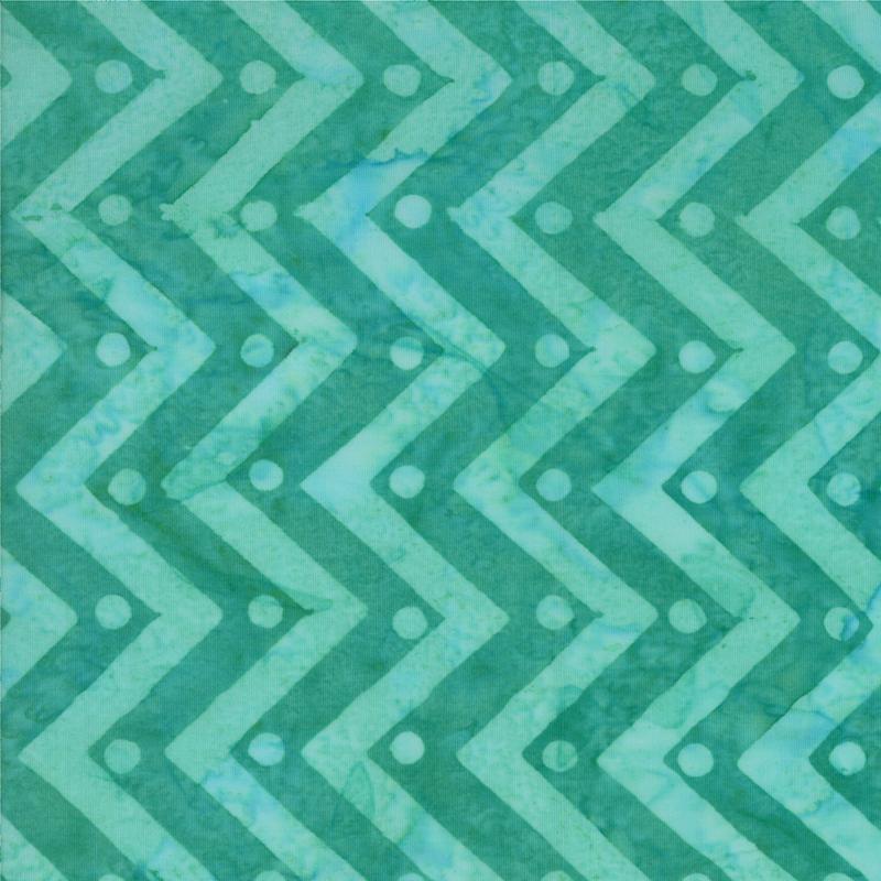 Bobbins Bits Agean Blue Chevron Batik by Moda
