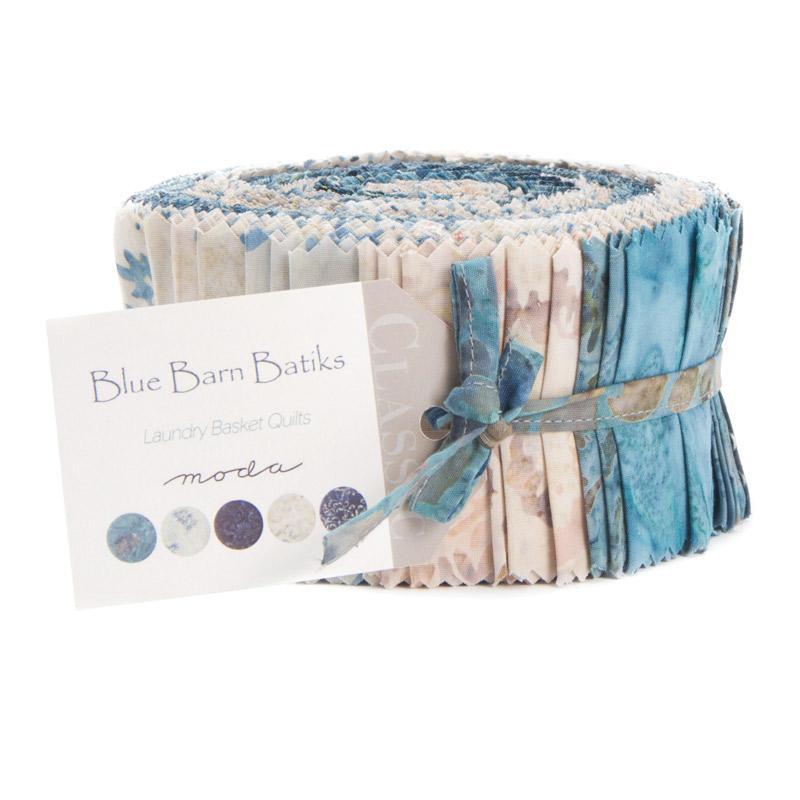 Blue Barn Batiks Jelly Roll - Laundry Basket Quilts - Moda