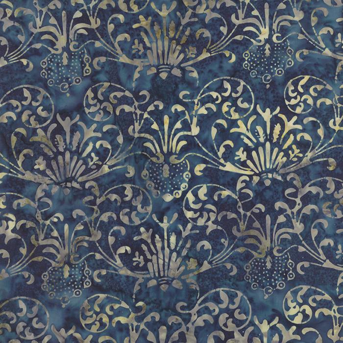 Blue Barn Midnight - Batik
