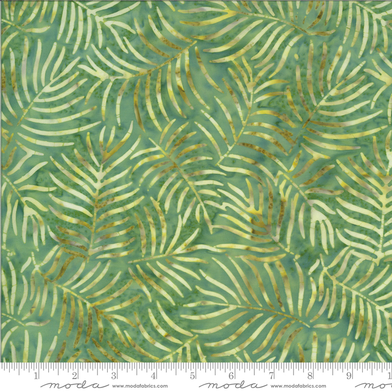Fern Medium Green - Malibu Batiks by Moda