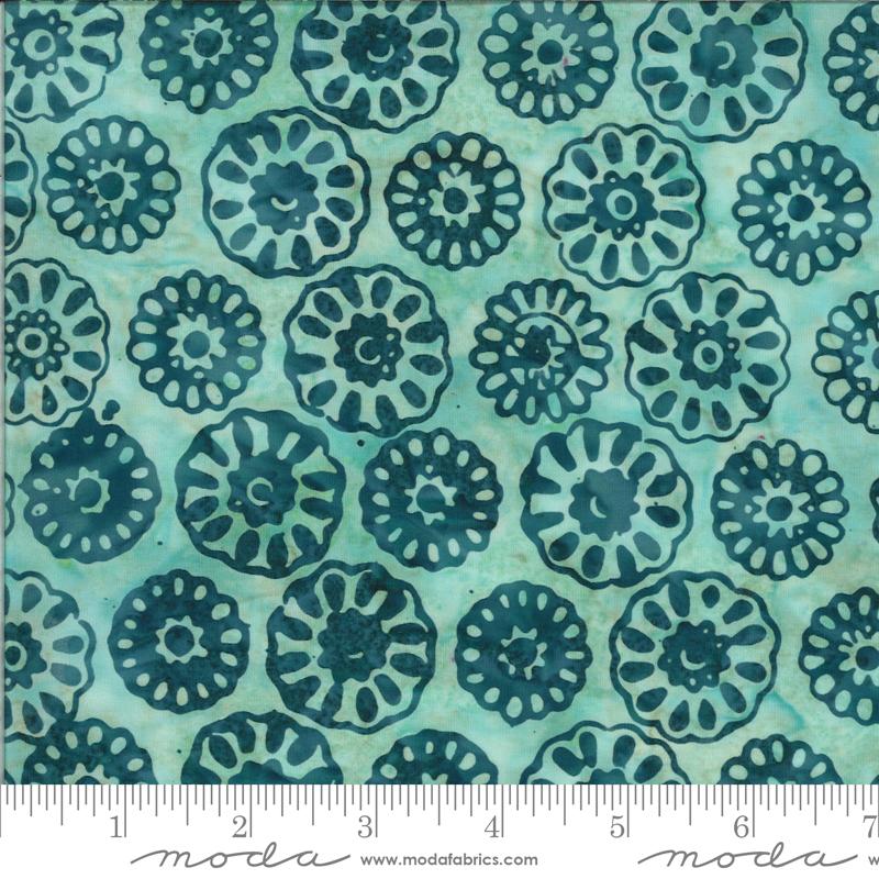 Confection Batiks - Blue Raspberry Daisy - By Kate Spain For Moda Fabrics