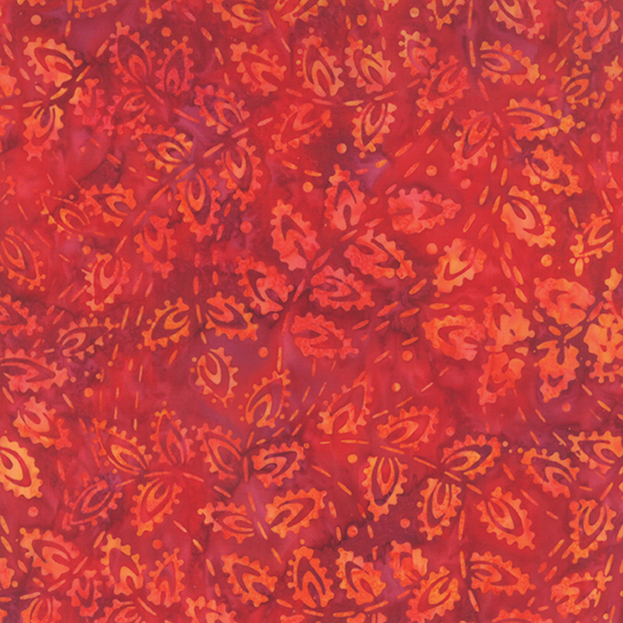 Fiji Hibiscus orange leaves on red