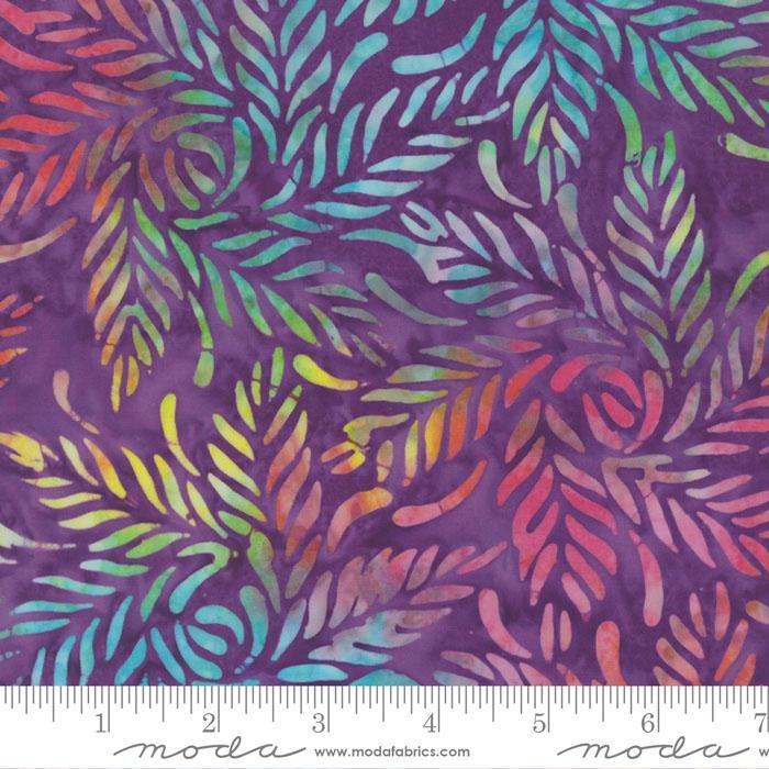 Wild Waves Batik Purple with Leaf