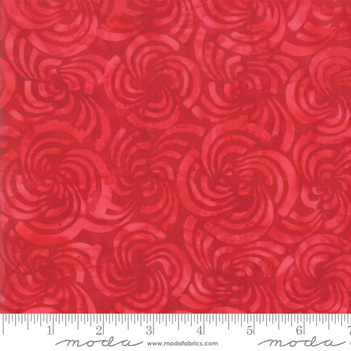 Bahama Batiks 4352-25 Crimson