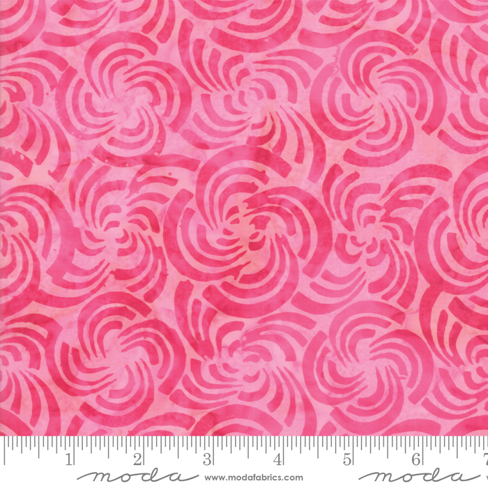 Hot Pink flowers batik 4352 29 Bahama batiks by Moda Fabrics