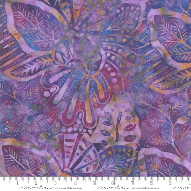 Batik - Aloha Multi leaves - purple