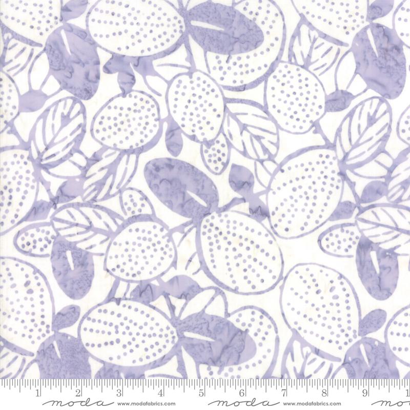 Batik - Aloha Mist- purple leaves