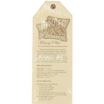 Hang Tags Memory Pillow